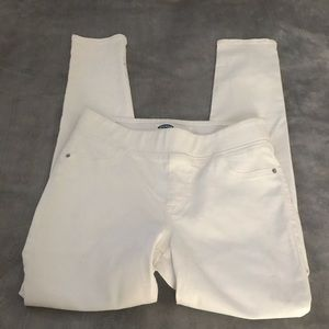 Old Navy size 8 white Jeggings
